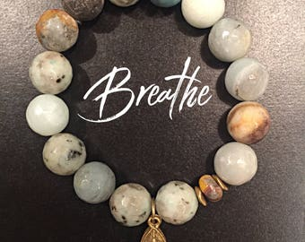 Agate and Jasper Healing Gemstone Bracelet