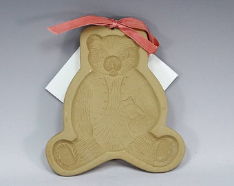 Teddy Bear, Cookie Mold, Craft Mold, Brown Bag, Paper Art, Home Decor, Cookie Cutter, RARE,  Bear