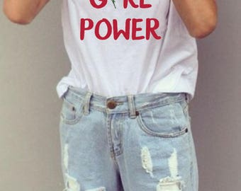 Girl Power, Girl Power Shirt, Girl Power Tshirt, The future is female, Girl Power Tee, Grl Pwr, Grl Pwr Shirt, Feminism Tee, Feminism Shirt