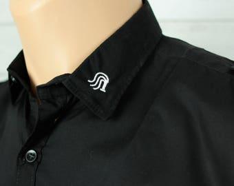 Flogger Emblem, Men's Button Down Dress Shirt, Long or Short Sleeve