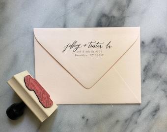 Custom Calligraphy Return Address Stamp