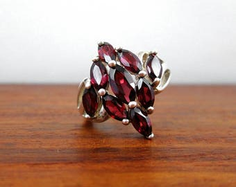 Sterling Silver Ruby Ring - Vintage