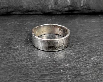Sterling Silver Wedding Band - Size 10.25 - Vintage