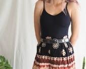 vintage high waisted patterned cotton mid shorts culottes