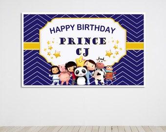 Digital file only - Little Baby Bum Birthday Party Banner, Little Baby Bum Birthday Party Back Drop, Little Baby Bum Printable Digital Copy