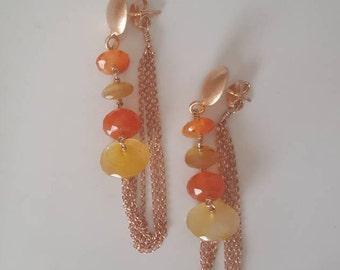 Cornelian earrings