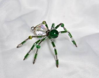 Small Green Beaded Spider
