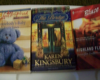 Lot of 3 THREE Romance Paper Back Books...Jennifer Labrecque, Annie Jones, and Karen Kingsbury VALENTINES ROMANCE