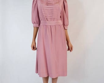 Vintage 1970's Mauve Nordstrom Dress Size Small