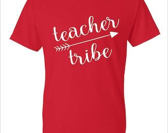 Teacher Tribe Shirts, First Day of School Shirt, School Spirit, Teacher Tee, Custom Design Tees, School Tees, School Spirit Shirts, Teacher