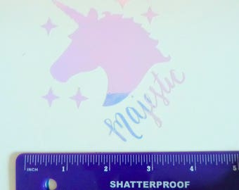 Majestic Unicorn Iridescent Vinyl Decal