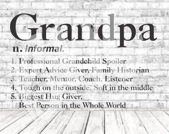 Definition of Grandpa, SVG, PNG, DXF, Vinyl Design, Circut, Cameo, Cut File, Grandpa Decal, Grandpa shirt, Fathers Day svg, Grandpa Svg