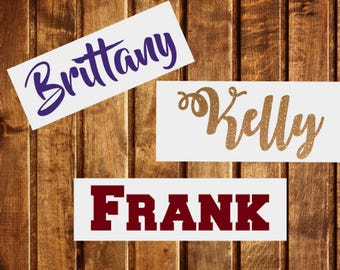 Name Decal, Personalized Name Decal, YETI Name Decal, Tumbler Name Decal, Word Decal, Car Name Decal, Laptop Name Decal, Hashtag Decal