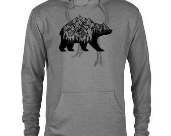 National Park Bear Adventure Unisex French Terry Hoodie