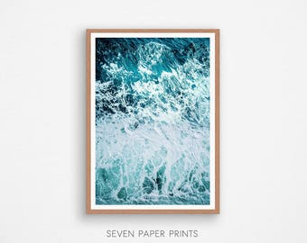 Ocean Wave, Sea Poster, Ocean Art, Ocean Photography, Sea, Ocean Décor, Ocean Wall Art, Turquoise Water, Teal, Digital Download