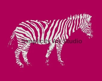 Zebra Dark Original Artwork Prints / Various Colors Available/ Various Sizes Available
