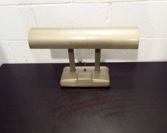 Vintage Mid Century Industrial Desk Lamp Light Distressed Finish Tilt Adjustment