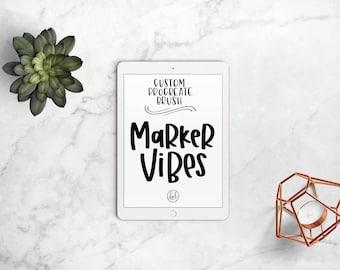 Marker Vibes - Custom Procreate Brush, Procreate App, iPad Pro, Hand Lettering, iPad Lettering, Marker Font