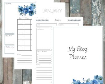 Blue Rose Blog Planner