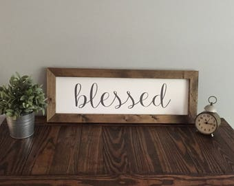 Blessed Farmhouse Sign | Farmhouse Sign
