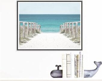 Green Patch Beach Australia Coastal art print, Seascape print beach photo download, Ocean print, large wall decor, nautical decor wall print