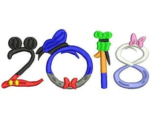 2018 Disney Embroidery Design