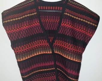 Vintage Open Knit Bohemian Vest