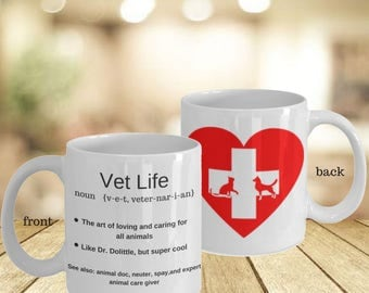 Vet Tech Best Gift Coworker His And Her Mugs- Daughter In Law Veterinarian Gift- Worlds Greatest Gift For Mentor- New Job Gift Personal Mugs