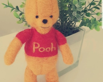 Winnie the Pooh felted