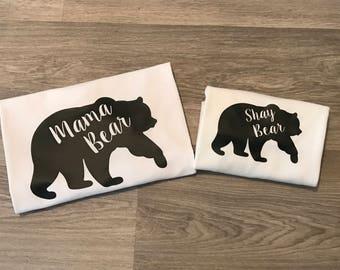 Mama Bear & Baby Bear Tops - BABY TOP