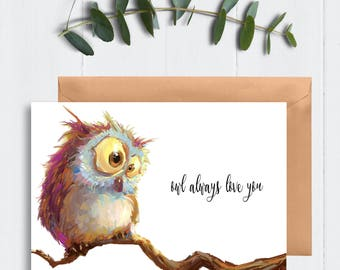 Love greeting card / Card for her / card for him / love card / anniversary card