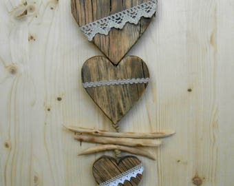 Room heart to hang on the wall in larch-clear