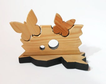 Decoration with wooden butterflies-wooden furniture-gift idea