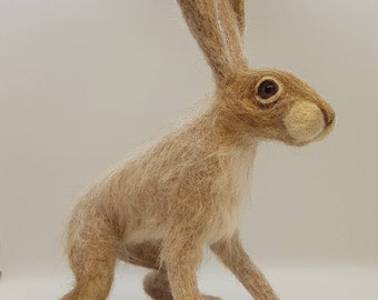 Sorrel - Keeper of Memories, Needle Felt Hare, Hare Keepsake, Felted Hare, Hare ornament, Hare Sculpture, OOAK Hare