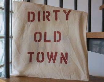 Dirty Old Town - Cotton Tote Shopping Bag - Handmade in UK