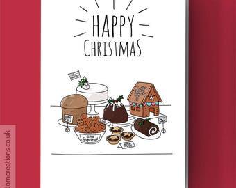 Gluten Free Christmas - Gluten Free Baking Christmas Card - Christmas baking