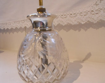 1920's Silver Topped Cut Glass Atomiser/Scent Bottle