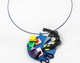 Kandinsky Choker, unique, handmade, original design, wearable art