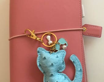 Keychains cat charms, bijoux bag, planner charms