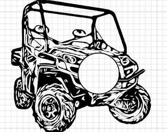 UTV with cut out for Circle Monogram