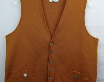 Mustard sweater vest | Etsy