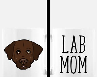 Lab Mom Coffee Mug | Chocolate Lab Gift | Dog Mom | Labrador Retriever | Cute Dog Mug | Dog Lover Gift | Mother's Day Gift