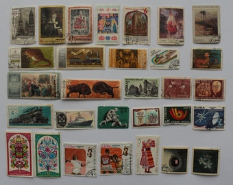 Soviet Stamps - Set of 30 pcs Postal, Postage Stamp, Collecting, Philately # 2