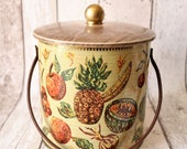 Vintage Baret Ware Biscuit Barrel In Design Plantation  Retro Kitchen  Retro Tins