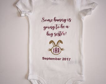 Baby Girl Clothes, Baby Girl Onesie, Gold Glitter Bodysuit, Gold Glitter Onesie, Dark Pink Glitter Onesie, Baby Announcement, Easter Baby