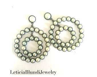 Circle Earring with Pearls