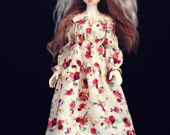 Floral dress for SLIM MSD BJD MiniFee, Iplehouse 1/6 bjd dolls