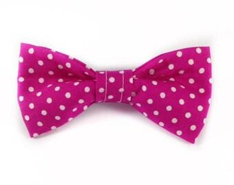 Pink Polkadots Bow Tie