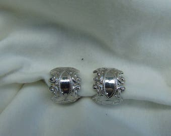 Vintage, L. H. Segal, Extra wide, Ornate, Hoop Earrings