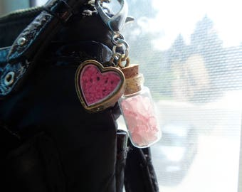 Gemstone Keychains w/ Heart